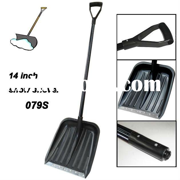 "14"" Plastic Snow Shovel With Steel Handle"