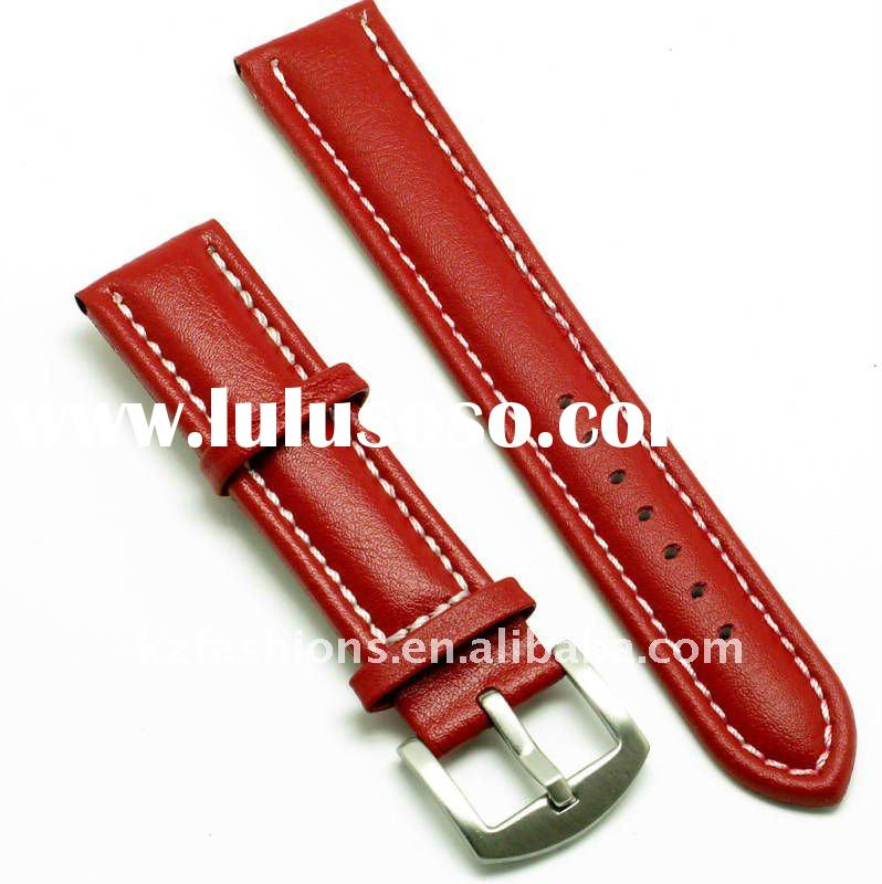 16mm Genuine Leather Watch Band red