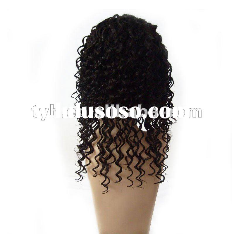 18'' Afro Curl Human Hair African American Wig