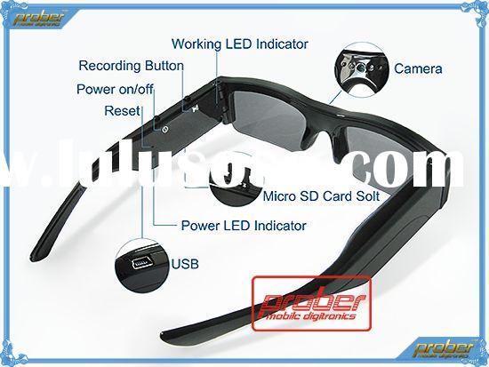 1. 3M Pixels CMOS Camera glasses/Recording Sunglasses/Video Recorder /Digital Camera with 2GB memory