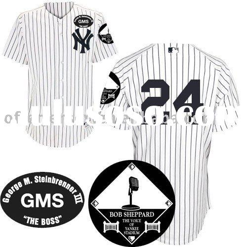 2010 GMS Memorial Patch New York Yankees Jersey #2 Derek Jeter Wholesale White Jerseys Size 44-56 +