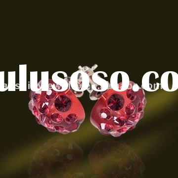 2011 100% Latest Fashion Swarovski Crystal Earrings with many color and Many Size for choice on prom