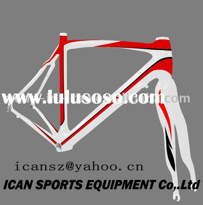 2011 Hot selling high quality popular road racing bike carbon frames bicycle parts
