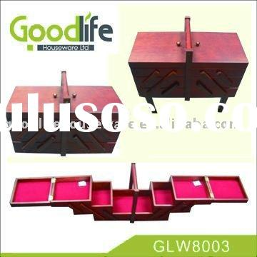 2011 Hot selling wooden sewing box with foldable stand