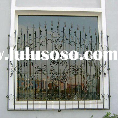 2011 Top-selling hand forged wrought iron window/cast iron window(LB-I-W-0019)