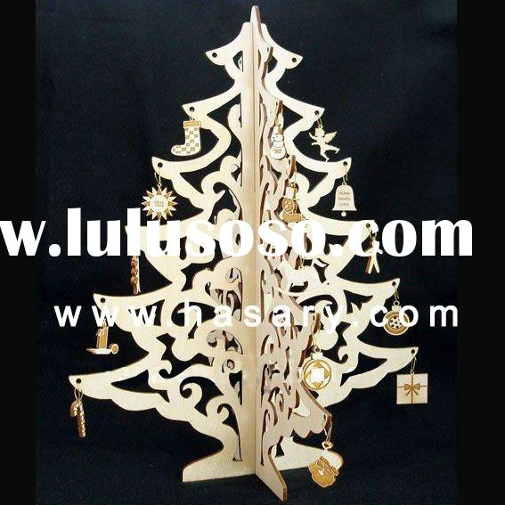 2011 Wood laser cut Christmas Ornament Decoration,Customized design