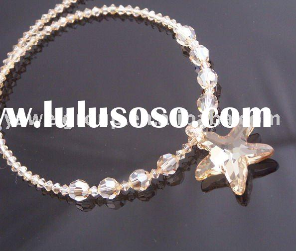 2011 cheap fashion beaded crystal jewelry necklace