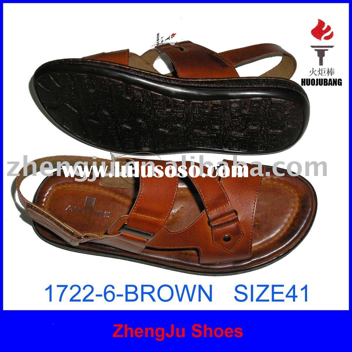 2011 fashion leather men sandals