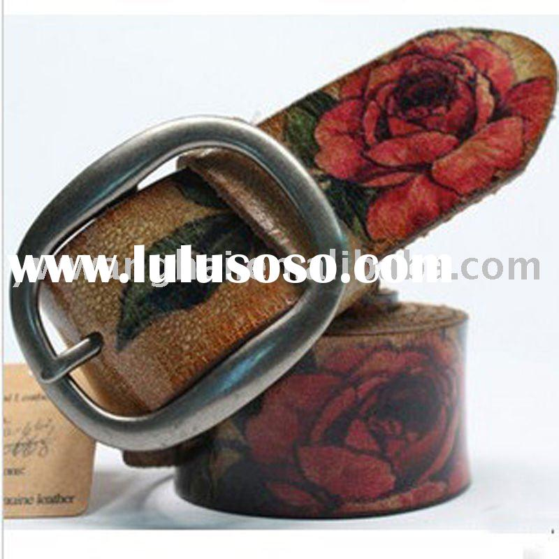 2011 new design fashion retro pu leather belts for women