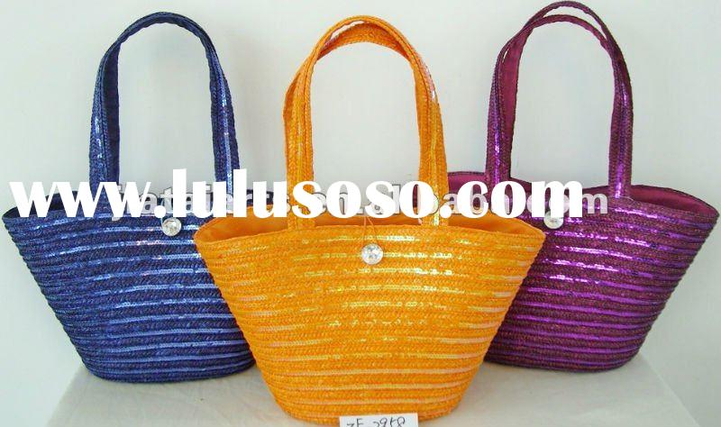 2012 Summer Ladies Natural Straw Beach Bag