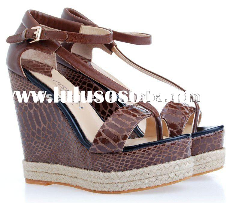 2012 fashion new wedges sandals for ladies wholesale shoes women