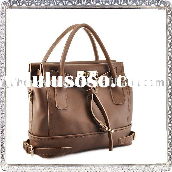 2012 genuine leather top brands in ladies bags