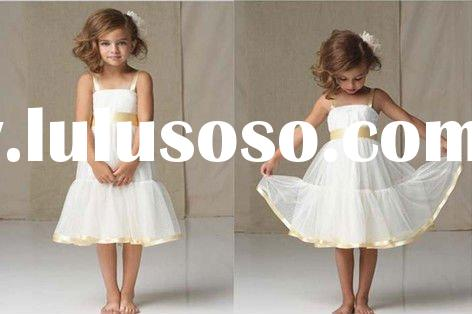 2012 new designer pageant vintage Flower Girl Dress