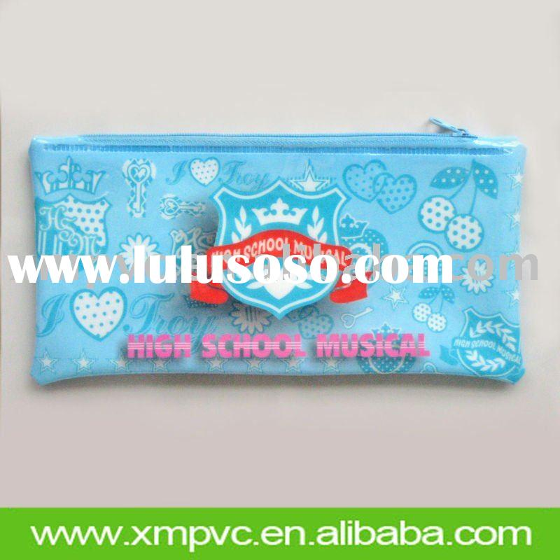 2012 school pvc pencil bag with zipper XYL-S022