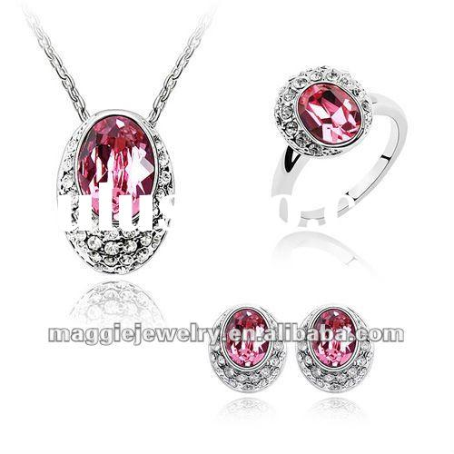 2012 valentine jewelry new design wholesale NO MOQ imitation jewelry By Swarovski Crystal
