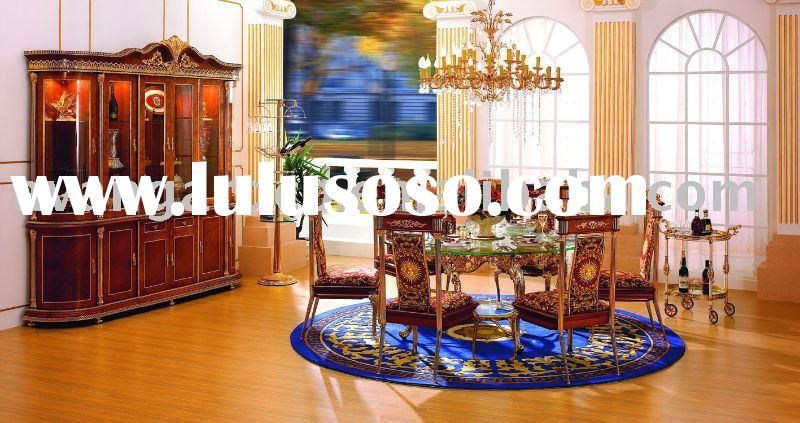 24K Gold plated Luxury Bronze Dining Room furniture set
