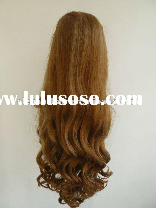 27/613# 30 inch heat resistent synthetic lace front wig with baby hair