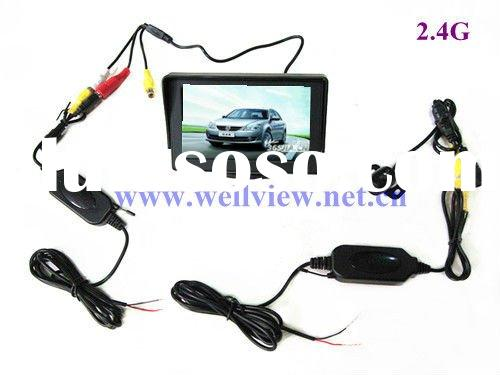 2.4G Wireless Car Rear View Camera Kits with 4.3inch Sunshade Monitor and Mini Camera of 170 Degree