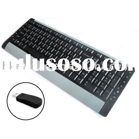 2.4G wireless keyboard with USB mini receiver/wireless multimedia keyboard