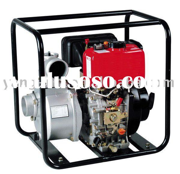 2 inch single cylinder electric start portable diesel water pump