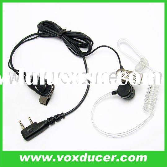 2 wire earpiece with mic for Kenwood walkie talkie TK-372G TK-373G TK-378 TK-378G TK-430 TK-431TK-21