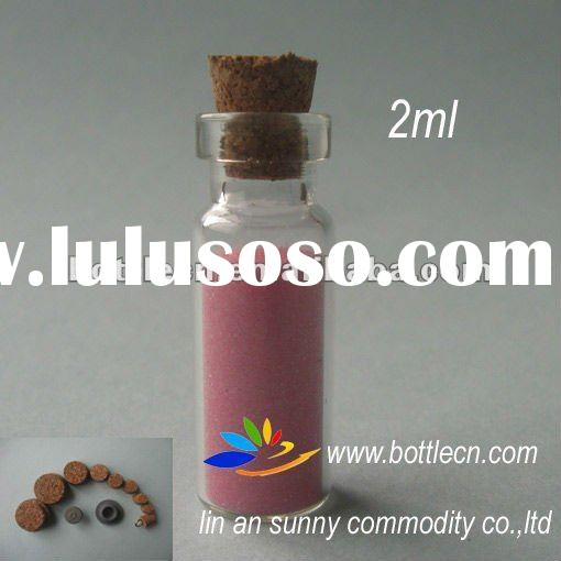 2ml small glass bottle with cork