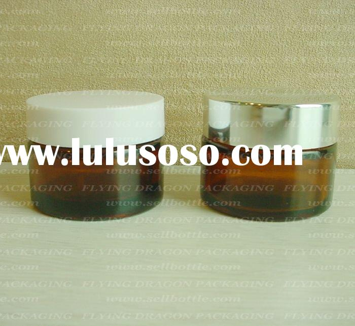 30ml Amber glass cream jar with lid, cosmetic bottle, cosmetic glass jar