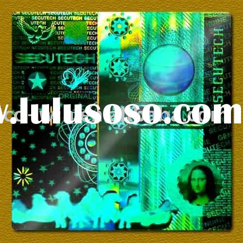 3D hologram laser sticker