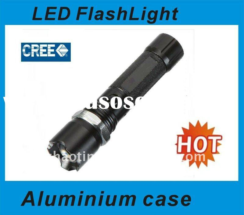 3W CREE LED Rechargeable Rotating zoom aluminium flashlight/LED High brightness flashlight/zoom torc