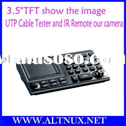 "3.5""TFT show the image UTP Cable Tester and IR Remote our camera PTZ Control Keyboard RS31"