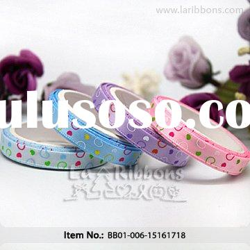 "3/8"" Cute Printed Satin Ribbon for Baby"