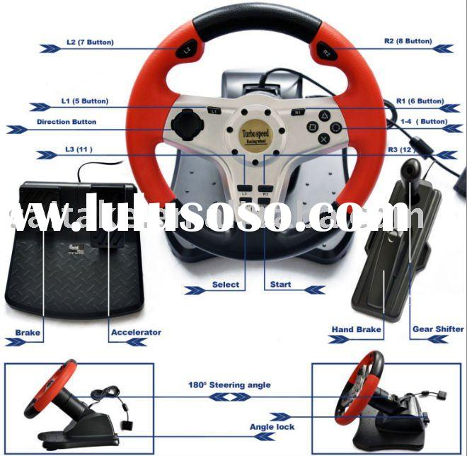 3 in 1 Game Racing wheel for PS2,PS3,PC