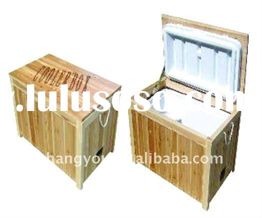 48L Environmental high quality outdoor wooden cooler box