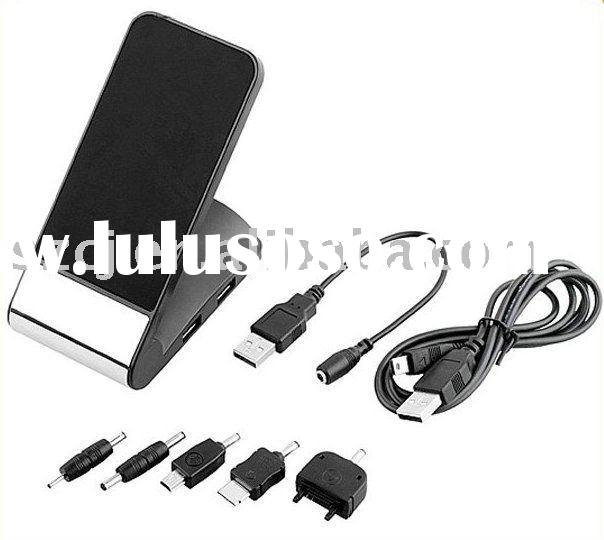 4 port usb hub cell phone stand with charger