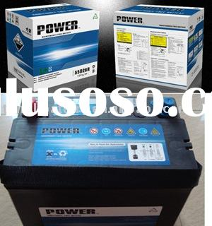 55AH/12V dry car battery
