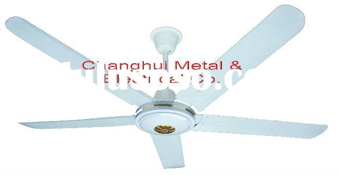 56'' cooling ceiling fan of 5-blade in white