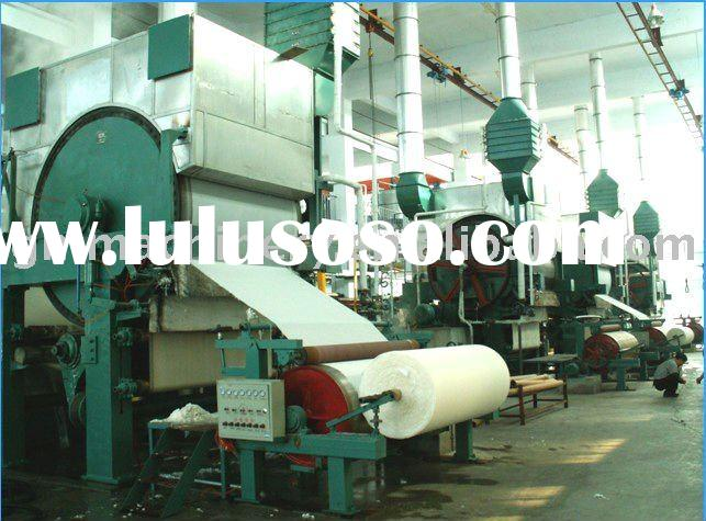 787-2400mm type toilet tissue paper machine, 0.8-12 T/D, raw material: waste paper, pure wood pulp