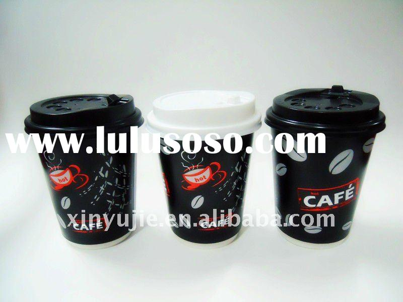 8oz/12oz/16oz/20oz/22oz double wall paper coffee cups canada with lids
