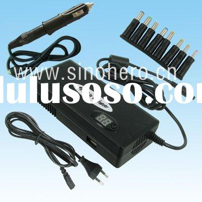 90W Laptop adaptor--Notebook car+home charger