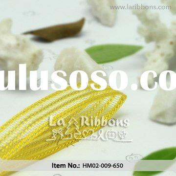 9MM Yellow Mesh Ribbon For Decoration