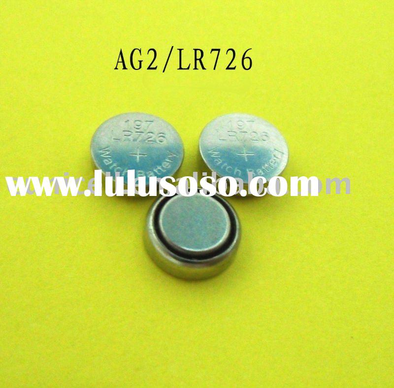 AG2 LR726 1.5v alkaline button cell battery, AG2 coin cell alkaline battery