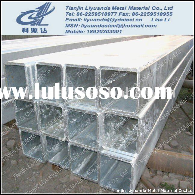 ASTM A500 Galvanized square steel tube/squre and rectangular hollow section