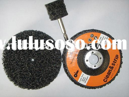 Abrasive Disc with angle grinder .