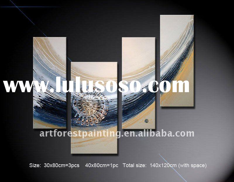 Abstract Art Group Oil Painting Canvas with stretchers 4 pieces as a set