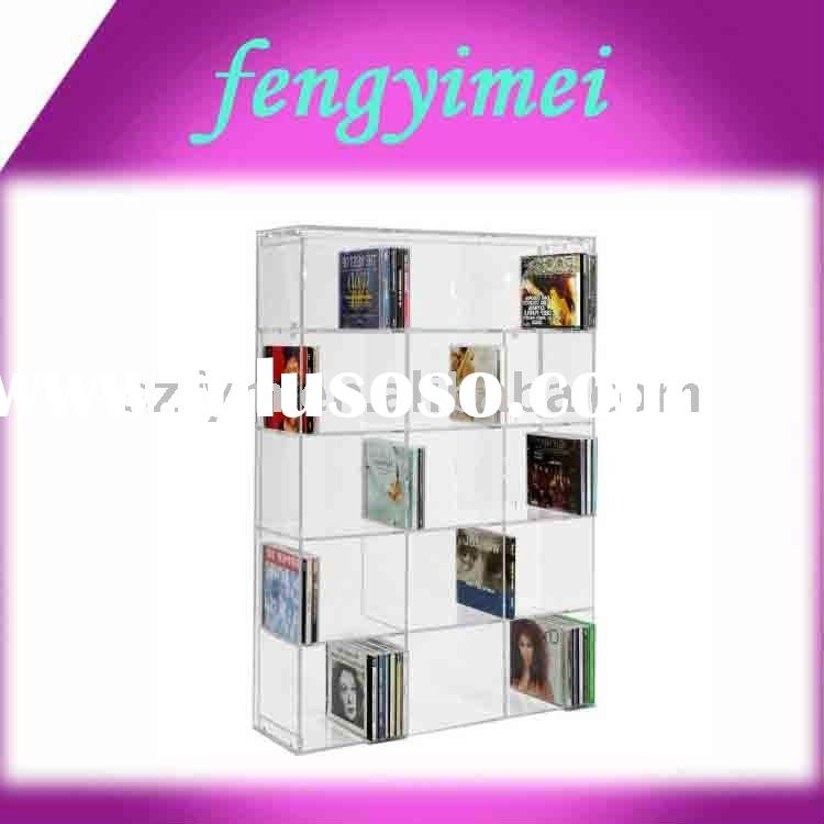 Acrylic CD DVD Rack,Perspex CD DVD display case ,Plexiglass CD DVD Stand