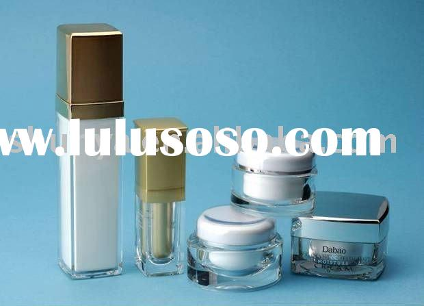 Acrylic cosmetic jars bottles