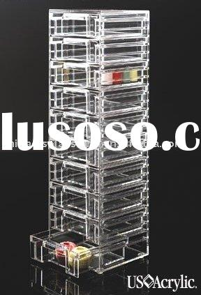 Acrylic organizer with drawer(cosmetic box,bathroom cabinet,jewelry holder,countertop box)