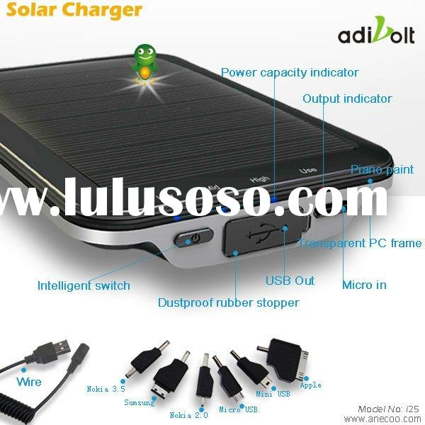 Adivolt 2500mAh Portable Solar Power External Charger Battery for Mobile Phones