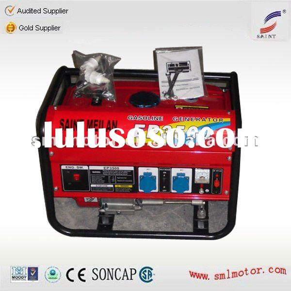 Air-cooled Petrol Engine portable Gasoline Generator Set
