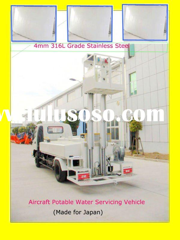 Aircraft Ground Support Equipment--RH Drive aircraft potable water servicing vehicle